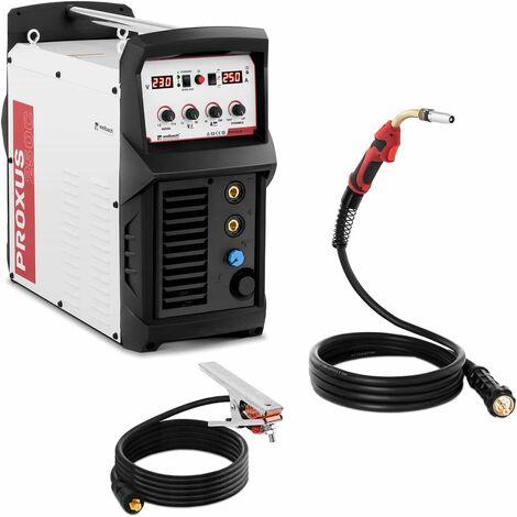 Máquina De Soldar MIG MAG Soldadora Por Hilo Multiproceso Digital 250 A MMA 230V