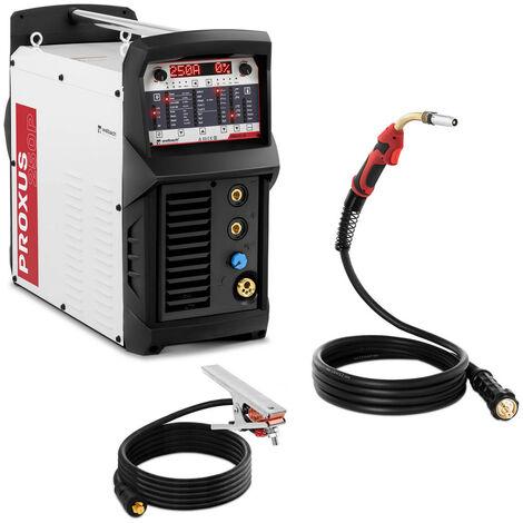 Máquina De Soldar MIG MAG Soldadora Por Hilo Multiproceso Pulso 270 A MMA 230 V