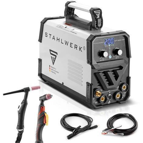 Máquina de soldar STAHLWERK CT550 ST - compacta máquina de soldar TIG / MMA de 200 A con cortadora de plasma de 50 A, 7 años de garantía*.