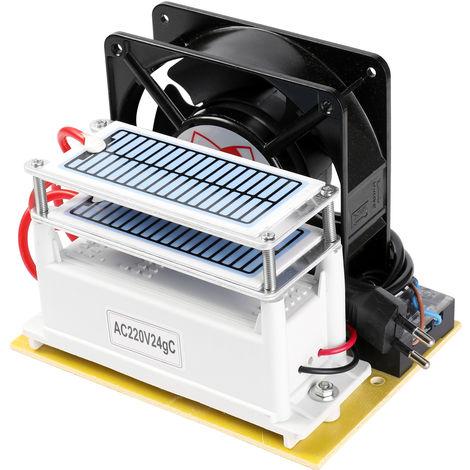 Maquina del generador del ozono 24g / h, fan del purificador para el coche casero