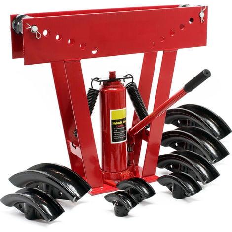 Máquina dobladora de tubos hidráulica con presión hasta 16T con 8 adaptadores diferentes para curvar