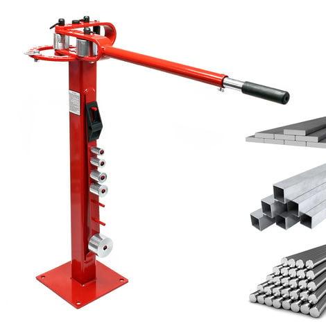 Máquina dobladora manual compacta con pie Para acero plano redondo cuadrado Talleres Uso versátil