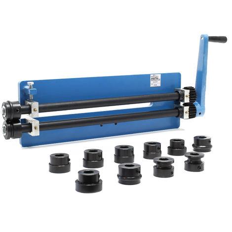 Máquina dobladora manual para planchas metálicas chapa Rebordeadora Bordonadora Perfiladora rodillos