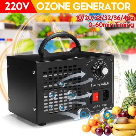 Máquina generadora de ozono purificador de aire industrial profesional ionizador ozonizador (negro, 48 g / h)
