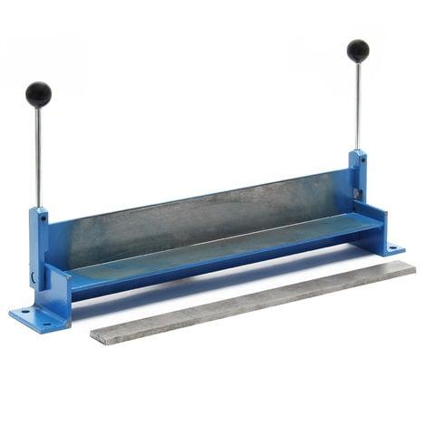 Máquina plegadora manual chapa 760 mm Dobladora placas acero hojalata Herramienta taller Bricolaje