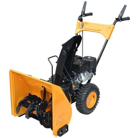 Máquina quitanieves 6,5 HP amarillo y negro