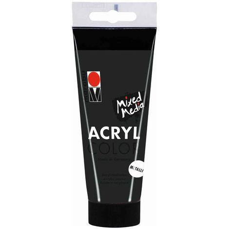 Marabu - Tube AcryColor Couleur Anthracite Métallique - 100ml