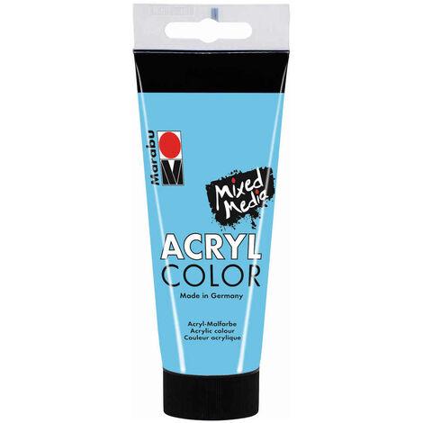 Marabu - Tube AcryColor Couleur Bleu Clair - 100ml