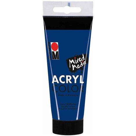 Marabu - Tube AcryColor Couleur Bleu Foncé - 100ml