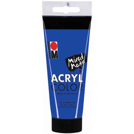 Marabu - Tube AcryColor Couleur Bleu Outreme - 100ml