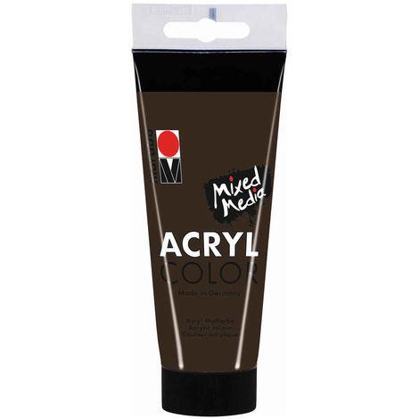 Marabu - Tube AcryColor Couleur Brun Foncé - 100ml