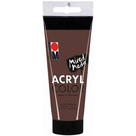 Marabu - Tube AcryColor Couleur Brun Moyen - 100ml