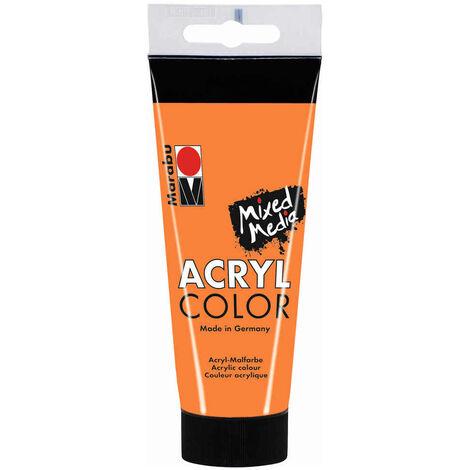 Marabu - Tube AcryColor Couleur Orange - 100ml