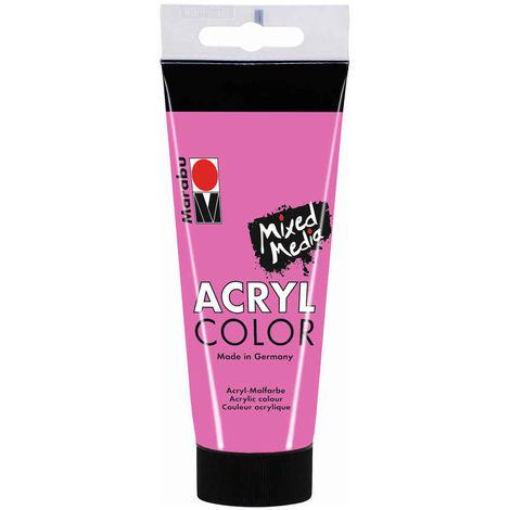 Marabu - Tube AcryColor Couleur Rose - 100ml