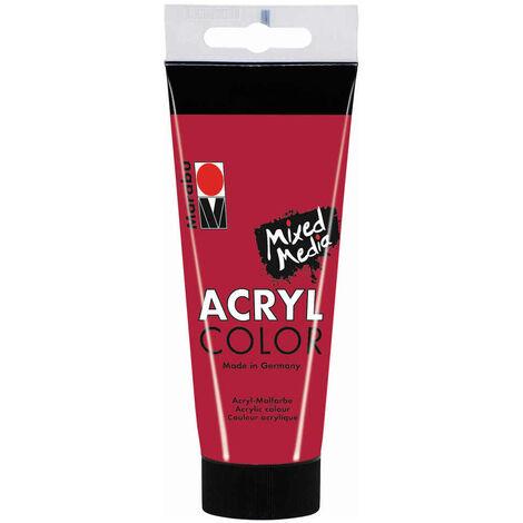 Marabu - Tube AcryColor Couleur Rouge Carmin - 100ml