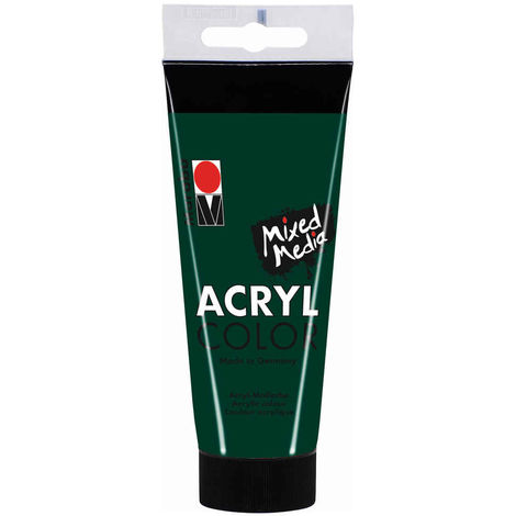 Marabu - Tube AcryColor Couleur Vert Sapin - 100ml