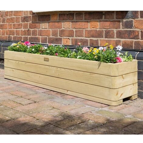 Marberry Wooden Planed Patio Planter