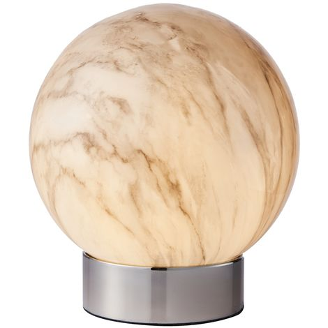 Marble Effect Globe Table Lamp