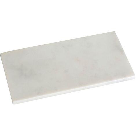 Marble Tray, Off White, Rectangular