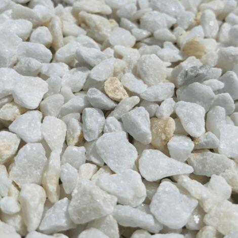 Sac de 400 kg = 10M² Gravier marbre blanc cristal 12/20