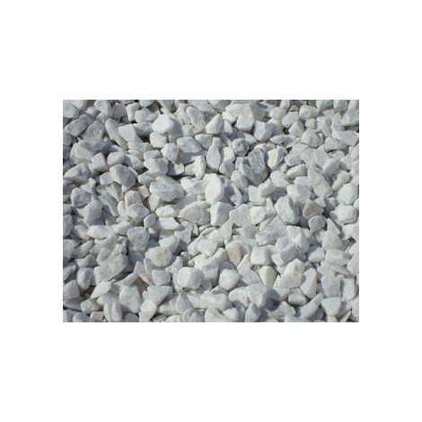 Marbre blanc/gris des Pyrénées 8/16 25 kg