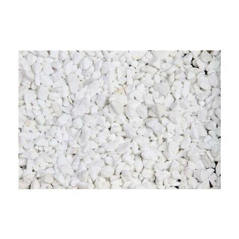 Marbre blanc pur concassé 8/12 400 Kg - 16x25kgs