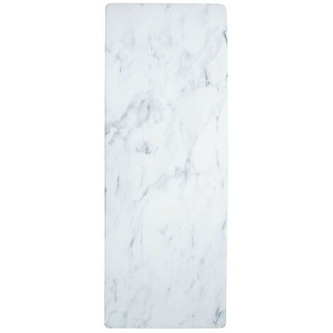 MARBRE VINYLE - <p>Tapis de cuisine imprimé marbre 45x120</p> - Blanc