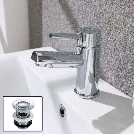 Marc Round Bathroom Cloakroom Basin Mini Mixer Chrome Tap