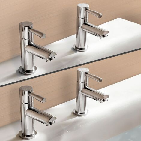 """main image of """"Marc Twin Hot & Cold Basin and Bath Tap Set Chrome"""""""