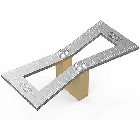 Marcador de cola de milano, herramienta de guía de cola de milano de calibre de madera cortada a mano con escala, tamaño de patrón de cola de milano 1: 5-1: 6 y 1: 7-1: 8 para carpintería, dinero