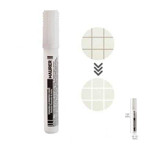 Marcador / rotulador blanqueador para juntas color blanco