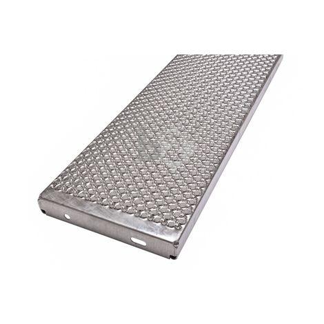 marche d'escalier en tôle perforée galvanisé PcP 1000x275x45mm antidérapante