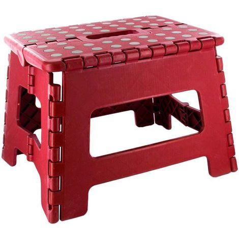 Marche pied pliable compact Rouge