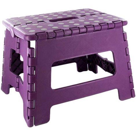Marche pied pliable compact Violet