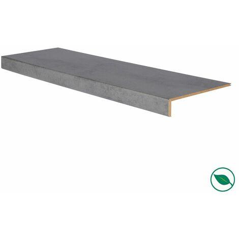 Marche rénovation d'escalier stratifié dark grey 1000 x 300 x 5,6 mm