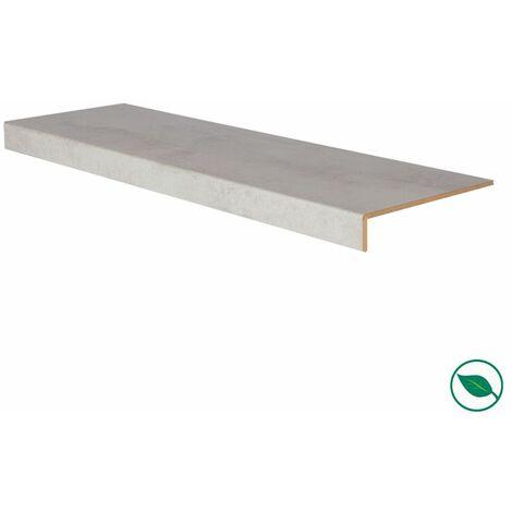 Marche rénovation d'escalier stratifié light grey 1000 x 300 x 5,6 mm