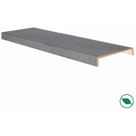 Marche rénovation d'escalier XXL stratifié dark grey 1300 x 610 x 5,6 mm