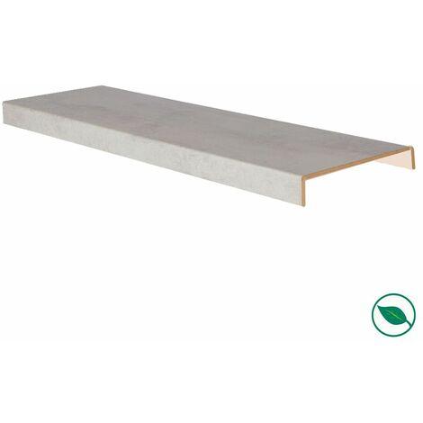Marche rénovation d'escalier XXL stratifié light grey 1300 x 610 x 5,6 mm