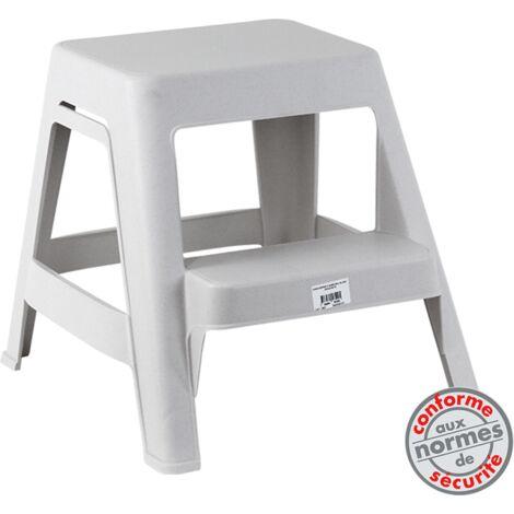 marchepied 2 marches blanc mouchet 5161005. Black Bedroom Furniture Sets. Home Design Ideas