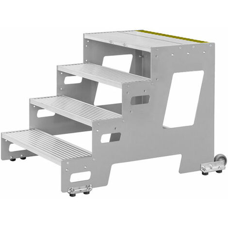Marchepied roulant - largeur des marches 800mm  (plusieurs tailles disponibles)