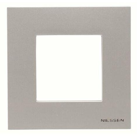 Marco 1 elemento Basico Niessen N2271.1 PL serie Zenit Plata