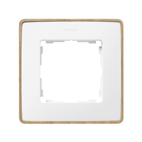 Marco 1 elemento blanco base madera SIMON 82 DETAIL 8201610-270