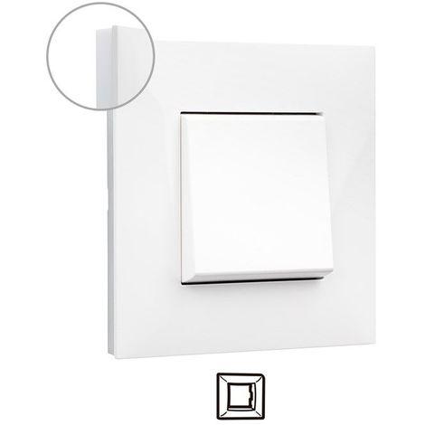 Marco 1 elemento blanco con lateral opal Valena Next 741001