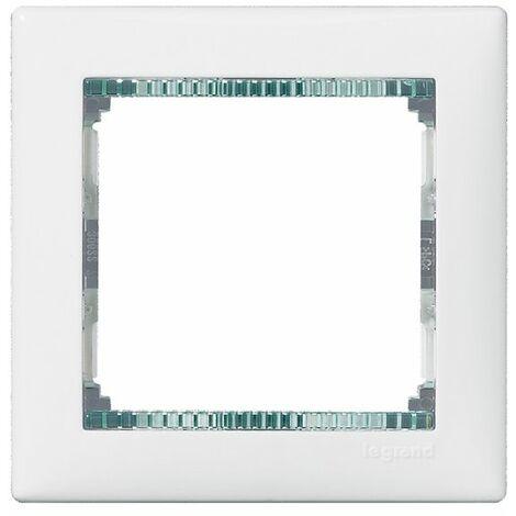 Marco 1 elemento horizontal Blanco-Cristal Legrand Valena 774461