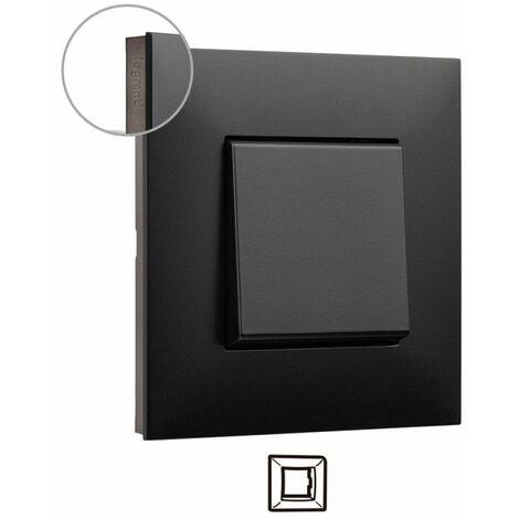 Marco 1 elemento Legrand 741061 serie Valena Next color Dark cromo oscuro
