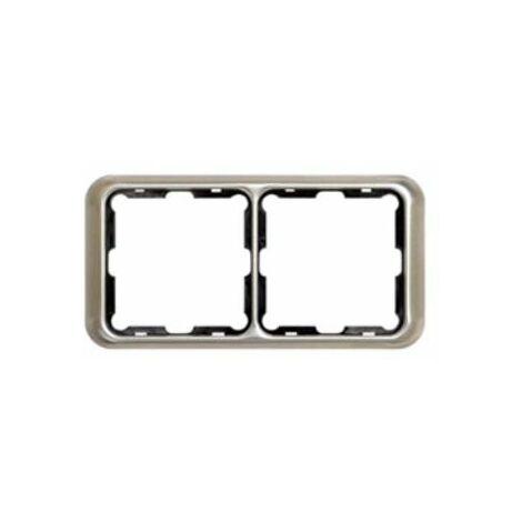 Marco 2 elemento Simon 75 aluminio 75620-33