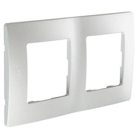 Marco 2 Elementos Aluminio Legrand Niloe 665062