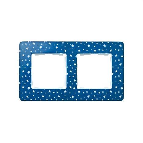 Marco 2 elementos estrellas azul índigo SIMON 82 DETAIL 8200620-221