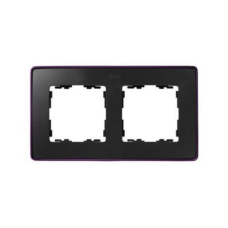 Marco 2 elementos grafito base morada SIMON 82 DETAIL 8201620-251