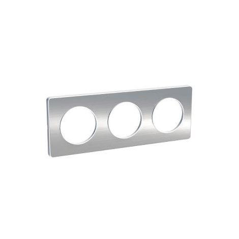 Marco 3 elementos aluminio cepillado Odace Touch SCHNEIDER S520806J
